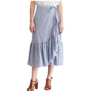 Chaps Skirts - NWT Womens Size Large Chaps Striped Midi Skirt